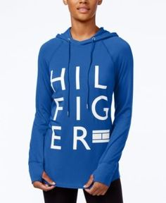 Tommy Hilfiger Sport Logo Hoodie, A Macy's Exclusive Style - Blue M