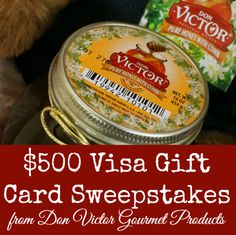 A Honey of a Sweepstakes!  $500 Visa GC Sweepstakes from #DonVictor Gourmet Products #HoneyForHolidays #ad