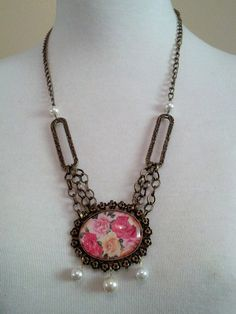 Cameo Style Necklace by VintageChicCouture on Etsy, $26.99