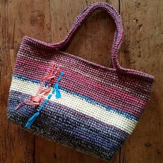 Crochet tote bag.  I love to mix yarns to achieve unique colors.  #crochet #creativeliving #accessories #uniquecolor #inspiration #handbags #instagood #moderncrochet