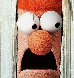 the shining, beaker, muppets, jack nicholson Jim Henson, Elmo, The Shining Film, Beaker Muppets, Here's Johnny, Fraggle Rock, The Muppet Show, Miss Piggy, Horror Comics