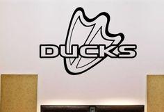 NCAA Oregon Ducks Wall Vinyl Decal Mural Decals Sticker Sport Logo Team  W806 SportDecals http  f3da6bbaf674