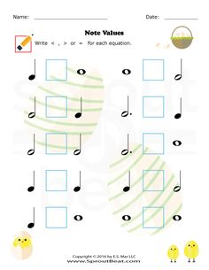Music Worksheets – Easter – Note Value Music Lessons For Kids, Music Lesson Plans, Music For Kids, Music Math, Music Classroom, Music Games, Piano Songs For Beginners, Music Theory Worksheets, Violin Lessons