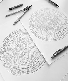 Fantastic type sketch by @mateuszwitczakdesigns  #typegang - typegang.com   typegang.com #typegang #typography