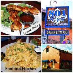 801 Royal Restaurant 801 Royal St., New Orleans, LA 70116. Crawfish/shrimp nachos are bangin! Great service!