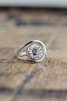 Bullet Ring This isn't your typical ring. Its delicate design, yet heavy cast is…
