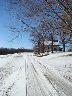 Long snowy driveway!