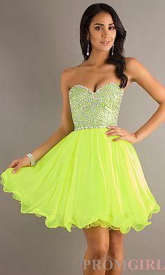 Strapless Short Prom Dress, Short Strapless Dresses- PromGirl