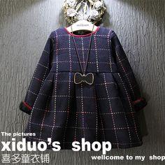 $22.83 (Buy here: https://alitems.com/g/1e8d114494ebda23ff8b16525dc3e8/?i=5&ulp=https%3A%2F%2Fwww.aliexpress.com%2Fitem%2Fnew-2015-autumn-winter-plaid-pattern-toddler-girls-party-dress-fashion-velvet-warm-print-children-girl%2F32567942441.html ) new 2015 autumn winter plaid pattern toddler girls party dress fashion velvet warm print children girl dresses suit 2~7 age baby for just $22.83