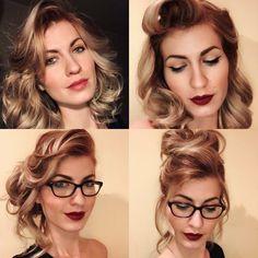 Eyes, Glasses, Hair Styles, Fashion, Eyewear, Hair Plait Styles, Moda, Eyeglasses, Fashion Styles