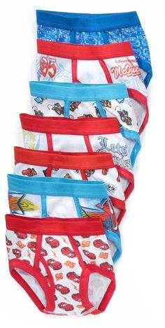 Disney Cars Toddler Boys 7 Pack Underwear Briefs