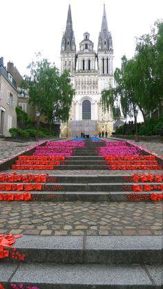 I still cherish a beautifully reverent Sunday evening mass in Angers, France.
