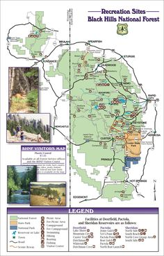 Black hills recreational map