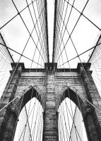 Julisteet valokuvataiteella Brooklyn bridge | Taulu arkkitehtuurilla