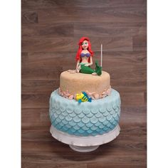 Impressive Little Mermaid Ariel cake! Would love to make this