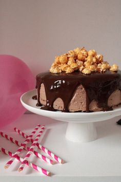 Layer Cake Pop-Corn, Chocolat & Caramel.