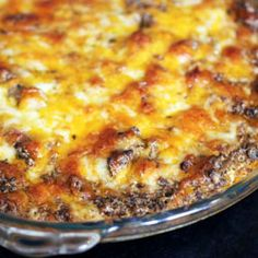 Delicious baked taco dip - perfect as an appetizer or a side dish!