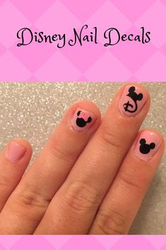 Disney inspired nail decals, several options available. #commissionlink #disney #disneynailart #nailart