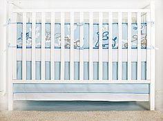 Animal theme organic baby bedding design for baby boy.
