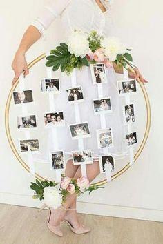 Vintage wedding decor photo frame idea - Decoration For Home Wedding Reception, Our Wedding, Dream Wedding, Wedding Gifts, Wedding House, Wedding Bedroom, Wedding Favors, Bridal Shower Decorations, Diy Wedding Decorations
