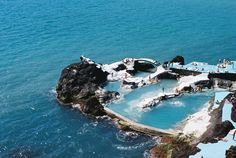 lava pools, madeira, portugal (possibly porto moniz?)