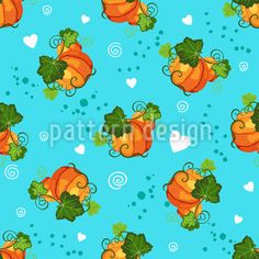 Pumpkins And Hearts Seamless Vector Pattern Vector Pattern, Pattern Design, Warm Colors, Surface Design, Pumpkins, Your Design, Pikachu, Hearts, Dots