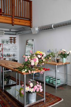 Love this garage turned floral studio floral workspace