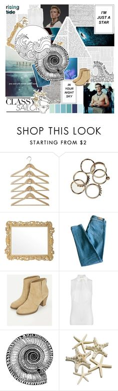 """Where's Finnick? Odair he is..."" by verified-fangirl-1 ❤ liked on Polyvore featuring Savio Firmino, Sandro, JustFab and MICHAEL Michael Kors"