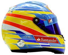 F1 Helmet 2012 Fernando Alonso (Scuderia Ferrari)