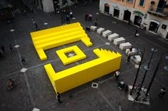 URBAN LOUNGE, TERNI, ITALY – 2011 DESIGN TEAM: (Gianfranco Bombaci, Matteo Costanzo) This project was an urban installation conceived to host the debates organized by the Festarch Lab organization on the occasion of the . Amazing Architecture, Landscape Architecture, Architecture Design, Dynamic Architecture, Urban Furniture, Street Furniture, Furniture Design, Environmental Graphics, Environmental Design