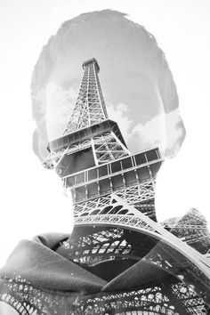 Paris double exposure. I want to know how to do this