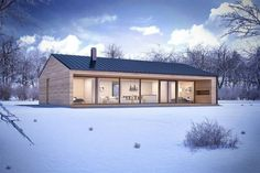 Helpful Tips For modern home design kitchen Modern Barn House, Modern Cottage, Modern House Plans, Prefabricated Houses, Prefab Homes, Small House Design, Modern House Design, Casas Containers, Shed Homes