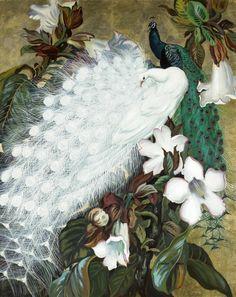Чудо природы - белый павлин от Jessie Arms Botke | Записи AЯT (Искусство) | УОЛ