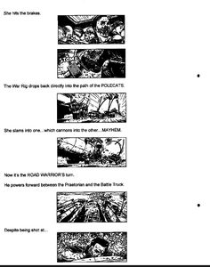 Post with 13 votes and 3725 views. Shared by Mad Max Fury Road - Original Script / Storyboard excerpts Mad Max Fury Road, Storyboard, Script, Funny Jokes, Album, Comics, The Originals, Script Typeface, Husky Jokes
