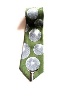 Mens Golf Balls Neck Tie, via Etsy Golf Attire, Golf Outfit, Golf Fashion, Fashion Men, Fashion Ideas, Feeling Weak, Golf Pants, Old Quotes, Golf Accessories