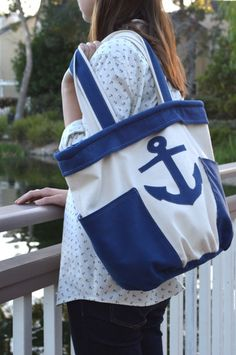 Amy Barickman's Crossroads Denim can be used for home decor, garments, accessories and more! See great ideas on our Crossroads blog tour like the nautical Brooklyn Bag from JediCraftGirl!