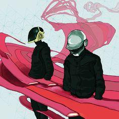 Daft Punk by ~KRMayer on deviantART