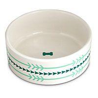 Harmony Ceramic Arrow Dog Bowl