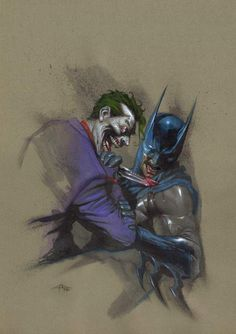The Joker vs Batman - Gabriele Dell'Otto