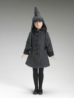 Agnes dreary hat and coat.Bitter Cold 2007