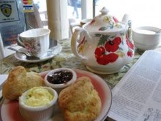 Tea and Sympathy, Greenwich and Jane, West Vill. Cute teapots, taditional English fare, and the best tuna melt in the land.