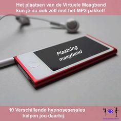 Nu ook MP3 pakket van 10 hypnosesessies verkrijgbaar voor het ZELF plaatsen van de virtuele maagband. Klik op de image om te bestellen!
