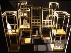 "Opera ""Lady Macbeth of the Mtsensk District"" Set Design, Model 1/4"" Scale"