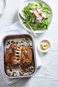 Cheese-Crusted Rack of Lamb with Minty Peas | In Season: Winter | MiNDFOOD