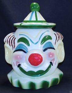 Vintage Sierra Vista Clown Bust Cookie Jar