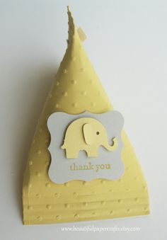 Yellow and Gray Elephant Baby Shower by BeautifulPaperCrafts, $15.00