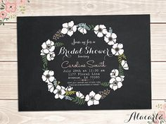 Custom Printable Chalkboard BRIDAL SHOWER Invitation