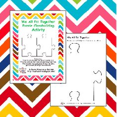 Sub Hub: We All Fit Together- puzzle piece template for creating a class puzzle using a piece from each perston Beginning Of The School Year, First Day Of School, Middle School, Back To School, Puzzle Piece Template, Elementary Bulletin Boards, Math Classroom, Future Classroom, Classroom Ideas