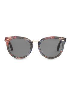 "#TOMSeyewear's Yvette Victorian Black Floral sunglasses were influenced by the artists' strife for ""La Joie de Vivre."""