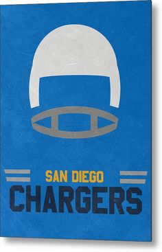 Chargers Metal Print featuring the mixed media San Diego Chargers Vintage Art by…